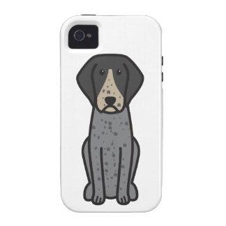 Bluetick Coonhound Dog Cartoon iPhone 4/4S Case