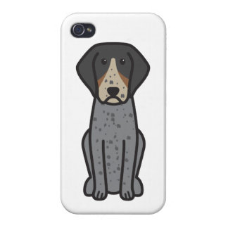 Bluetick Coonhound Dog Cartoon iPhone 4/4S Covers