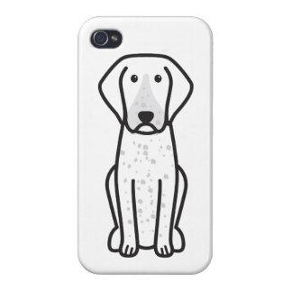 Bluetick Coonhound Dog Cartoon iPhone 4 Cases