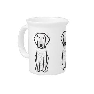 Bluetick Coonhound Dog Cartoon Drink Pitchers