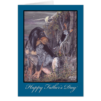 Bluetick Coonhound Father's Day Card