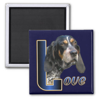 Bluetick Coonhound Gifts 2 Inch Square Magnet
