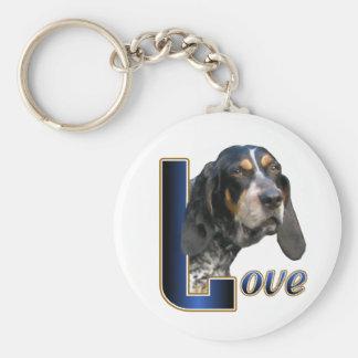 Bluetick Coonhound Gifts Basic Round Button Keychain