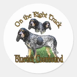 Bluetick Coonhound Gifts Classic Round Sticker