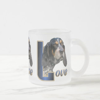 Bluetick Coonhound Gifts Frosted Glass Coffee Mug