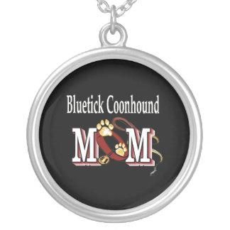 Bluetick Coonhound Mom Round Pendant Necklace