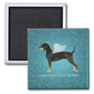 Bluetick Coonhound Pet Memorial Angel Dog 2 Inch Square Magnet