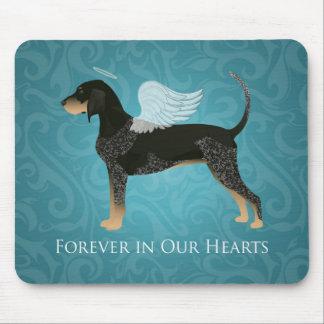 Bluetick Coonhound Pet Memorial Angel Dog Mouse Pad