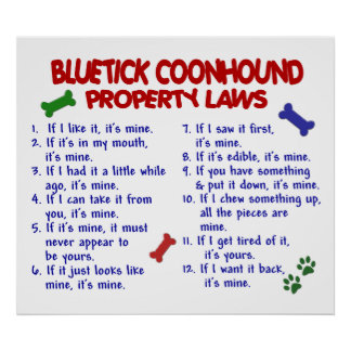 BLUETICK COONHOUND PL2 POSTER