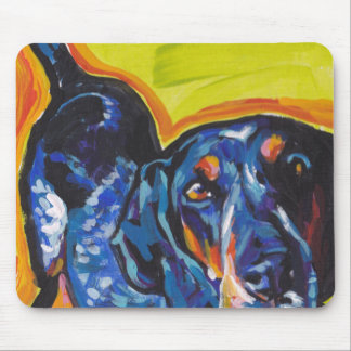 Bluetick Coonhound Pop Art Mouse Pad