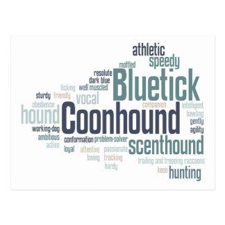 Bluetick Coonhound Post Card