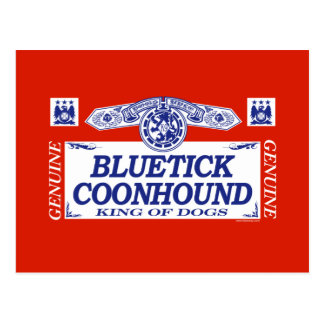 Bluetick Coonhound Postcard