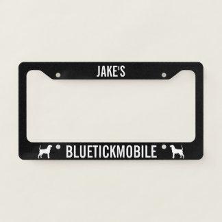 Bluetickmobile Coonhound Silhouettes Custom License Plate Frame