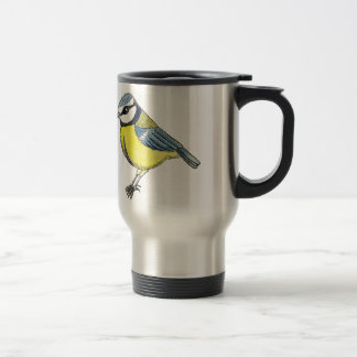 Bluetit cut out travel mug