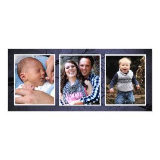 Bluetone Christmas Triple Photo Photo Cards
