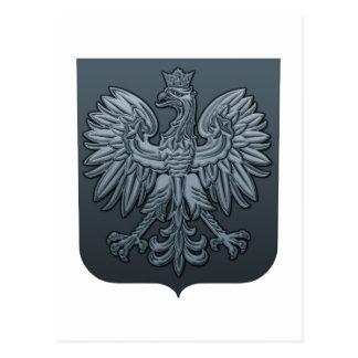 Bluetone Polish Eagle Shield Postcard