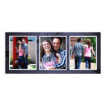 Bluetone Save the Date Triple Photo Wedding Cards Custom Invites
