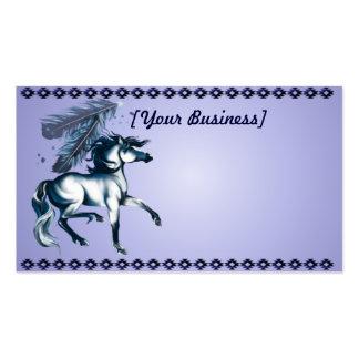 BlueToneHorseandFeathers Business Card