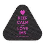 [Love heart] keep calm and love im5  Bluetooth Speaker