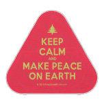 [Xmas tree] keep calm and make peace on earth  Bluetooth Speaker