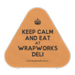 [Crown] keep calm and eat at wrapworks deli  Bluetooth Speaker