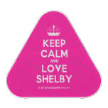 [Knitting crown] keep calm and love shelby  Bluetooth Speaker