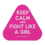 keep calm and fight like a girl  Bluetooth Speaker