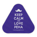 [Moustache] keep calm and love peha  Bluetooth Speaker