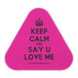 [Crown] keep calm and say u love me  Bluetooth Speaker