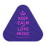 [Dancing crown] keep calm and love music  Bluetooth Speaker