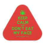 [Cutlery and plate] keep calm and don't eat my face  Bluetooth Speaker
