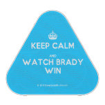 [Crown] keep calm and watch brady win  Bluetooth Speaker