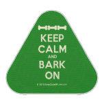 [Dogs bone] [Dogs bone] [Dogs bone] keep calm and bark on  Bluetooth Speaker