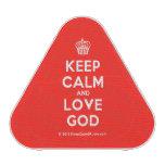 [Cupcake] keep calm and love god  Bluetooth Speaker