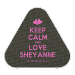 [Two hearts] keep calm and love sheyanne  Bluetooth Speaker