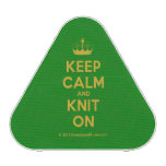 [Knitting crown] keep calm and knit on  Bluetooth Speaker