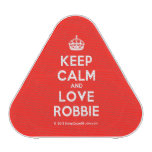 [Crown] keep calm and love robbie  Bluetooth Speaker