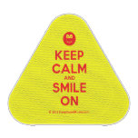 [Smile] keep calm and smile on  Bluetooth Speaker