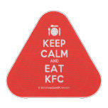 [Cutlery and plate] keep calm and eat kfc  Bluetooth Speaker