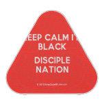 keep calm i'm black disciple nation  Bluetooth Speaker