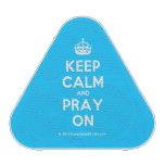 [Crown] keep calm and pray on  Bluetooth Speaker