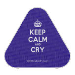 [Crown] keep calm and cry  Bluetooth Speaker