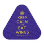 [Crown] keep calm and eat wings  Bluetooth Speaker