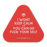 [Crown upside down] i wont keep calm and you can go fuck your self  Bluetooth Speaker
