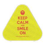 [Smile] keep calm and smile on  Bluetooth Speaker