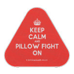 [Crown] keep calm and pillow fight on  Bluetooth Speaker