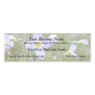 Bluets - Quaker Ladies Mini Business Card