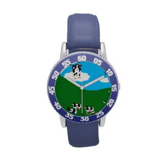 """BlueWatch del niño de BlueSkyCows """"GreatOne"""" Reloj De Mano"""