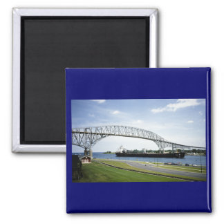 Bluewater Bridge Before There Were Two 2 Inch Square Magnet
