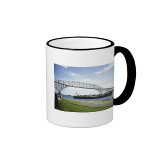 Bluewater Bridge Before There Were Two Ringer Coffee Mug